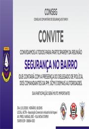 SEGURANÇA NO BAIRRO